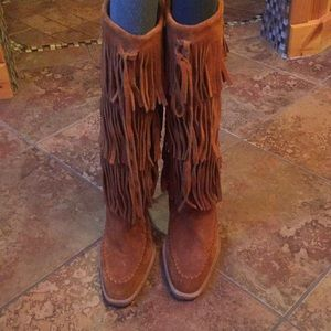 Michael Kors Shoes - Michael Kors Suede Fringe Boots